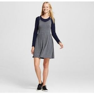NWT Mossimo Women's Gray Knit Swing Skater Dress
